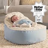 Bambeano Baby Sitzsack - Blau – Inklusive kostenlosem 'Toddler Bean Bag' Bezug
