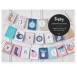 JulicaDesign Baby Adventskalender | 24 Überraschungen für Eltern und Baby + Dekokordel zum...