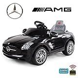 *2x Motoren* Soft-Start Original Mercedes-Benz AMG SLS Lizenz Kinderauto Kinderfahrzeug (SCHWARZ)