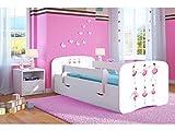 Kocot Kids Kinderbett Jugendbett 70x140 80x160 80x180 Weiß mit Rausfallschutz Matratze Schubalde und Lattenrost Kinderbetten für Mädchen und Junge