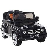 UEnjoy Mercedes Benz Kinderauto Kinderfahrzeug Elektro Spielzeug 12V Lizenziert AMG G55 SUV mit Fernbedienung, Rollenaufhängung, Ledersitz, Eva-Rädern, Lichtern, AUX in & Music