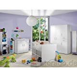Babyzimmer'Isabel' 8tlg. Komplett Set Baby Komplettset mitwachsend Weiss/Weiss