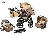 Kinderwagen Babywagen Kombikinderwagen Baby Merc Maylo Twist 3 in 1 Komplettset mit Zubehör 0-3...