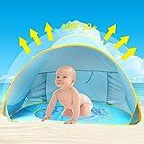 Baby Strandzelt,Oummit Pop-up Strandmuschel mit Strand Pool Automatik Strandmuschel mit Boden...