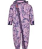 Racoon Baby-Mädchen Schneeanzug Fleur Softshellanzug Wassersäule 5.000, Mehrfarbig (Lavender Lav), 74