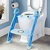 Amzdeal Töpfchen Trainer / Toilettentrainer, Kinder Toilettensitz Trainer / Baby WC Sitz mit Leiter / Toilettenleiter, für Kinder von 1-7 Jahren
