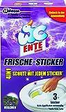 WC Ente Frische-Sticker, körbchenloser WC Spüler, bis zu 4 Wochen, Veilchen Duft, 1er Pack (1 x 27 g)