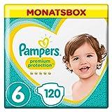 Pampers Premium Protection Größe 6, 120 Windeln, Pampers 'Softest Comfort, empfohlen von der British Skin Foundation, 13 kg +