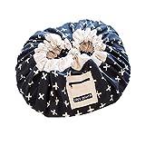 Round Kids' Room Rug,Toys Storage Organizer Bag,Large Cotton Anti-slip Cartoon Children's Floor...