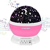 Esonstyle Wiederaufladbare 360 Grad Drehende Nachtlicht Projektor Baby Musical Mond und Himmel Licht...