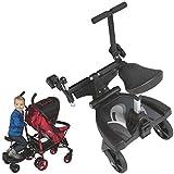Buggyboard Trittbrett Mitfahrbrett Rollbrett + Zusatzsitz (Erweiterung) für Kinderwagen Buggy...