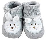Baby Schuhe Strickschuhe Erstlingsschuhe Mäuse das kleine Geschenk (0-3 Monate) Anthrazit