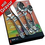 Zwilling Bino Kinderbesteck mit Gravur 4tlg. ** Hersteller: ZWILLING J.A. Henckels ** inkl....