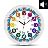 Cander Berlin MNU 1030 Kinderwanduhr (Ø) 30,5 cm Kinder Wanduhr mit lautlosem Uhrenwerk und...