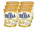 Nestlé BEBA SUPREME PRE Anfangsnahrung: von Geburt an, Pulver, hypo-allergene Säuglingsnahrung, mit Omega 3, 6er Pack (6 x 800g)