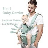 6 in 1 Baby Carrier/ Babytrage/ Bauchtrage/ Rückentrage Neugeborene 360 for All Seasons- 6...