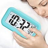 LONZOTH Smart Digital-Wecker, Snooze 5 Minuten, bald aufhören Alarmknöpfe, mit Datum, Temperatur-...