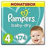 Pampers Baby Dry Windeln, für atmungsaktive Trockenheit, Gr. 4 (9-14 kg), Monatsbox, 1er Pack (1 x...