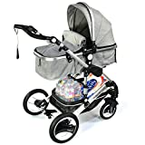 3 in 1 Kinderwagen Bambimo Kombikinderwagen Babyschale Buggy Sportsitz Babywanne Aluminium Rahmen...