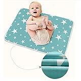 3 Stück Säugling Wasserdicht Urin Matte Abdeckung - Atmungsaktiv Pad Protector wechseln fürs Kleinkind Jungen Mädchen (Fantasie Sterne, L - 60 x 75 cm (3 Stück))