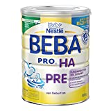 Beba PRO HA Pre| Babymilch zum Zufüttern für Säuglinge | Mit ungesättigten Fettsäuren Omega 3 (LCP) | Wissenschaftlich geprüfte Anfangsnahrung | Reduziert Allergierisiko | 6er Pack (6 x 800 g)