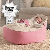 Bambeano Baby Sitzsack - Pink – Inklusive kostenlosem 'Toddler Bean Bag' Bezug