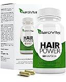 NaroVital Hair-Power - 2400 mcg Biotin, Zink, Selen, Hirse, OPC & Mehr - Vegan - Hochdosiert - 60 Kapseln - Haar-Vitamine - Wertvolle Nährstoffe für Haare, Haut und Nägel