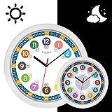 Cander Berlin MNU 5130 Kinderwanduhr (Ø) 30,5 cm Kinder Wanduhr mit lautlosem Uhrwerk und...