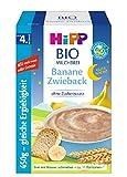Hipp Bio-Milchbreie ohne Zuckerzusatz-Vorratspackung, Gute-Nacht-Brei Banane Zwieback, 4er Pack (4 x 450 g)