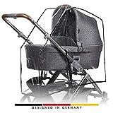 ABC Design Universal Rundum-Regenschutz, für alle Kinderwagen universal verwendbar, passend für...