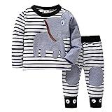Kinder Unisex Baby 2 Stück Bekleidungsset Herbst,Yanhoo Neugeborenes Baby Jungen Mädchen Elefanten...