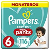 Pampers Baby-Dry Pants, Gr.6 Extra Large, 15+kg, Monatsbox, 1er Pack (1 x 116 Stück)
