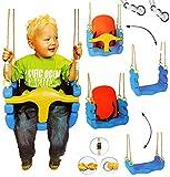 mitwachsende - Babyschaukel / Gitterschaukel mit Gurt - Kinderschaukel ab 1,5 Jahre - mit...