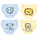 JEELINBORE Baby Mädchen/Jungen Niedlich Cartoon Knickers Comfortable Panties Briefs Unterhosen Unterwäsche, Multipack | für 1-4 Jahre (Stil2 Jungen(4PCS), 110)