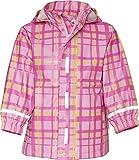 Playshoes Baby - Mädchen Regenbekleidung 408651 Trendige Regenjacke Karo, mit Reflektoren, Oeko-Tex Standard 100, Gr. 80, Rosa (rose)