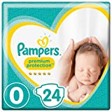 Pampers Premium Protection Baby Windeln, Gr.0 Micro (1,5 - 2,5 kg), 6er Pack (6 x 24 Stück)