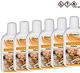 6 x 200 ml + 1 x 20 ml Probe GRATIS Saunaaufguss Saunaduft Saunaduftkonzentrat Warda Aromaduft + Mentholkristalle + Saunasalz