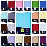Buymax Baby Spannbettlaken für Kinderbetten Spannbetttuch Bettlaken, 60x120-70x140 cm, Anthrazit