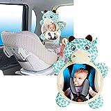 Amorar Rücksitzspiegel für Baby Sicherheitsrückspiegel, Bruchsicherer Spiegel für Autositz Babyspiegel Babyschalenspiegel Sicherheitsspiegel Babyspiegel für Babyschalen für Babys Easy View