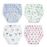 Flyish Baby Trainerhosen Töpfchentraining Unterwäsche Windeln Windelhose zum Toilettentraining Töpfchentraining 6-30 Monaten, 4 Stück