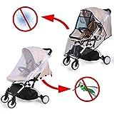Universal Baby Kinderwagen Regenschutz und Mückennetz, für Buggy und Babywannen, Waschbar Faltbare...