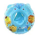 UClever Baby Kleinkinder Schwimmreifen Schwimmsitz Schwimmhilfe Schwimmring Cartoon Cartoon Wildtiere für 6-36 Monate (Blau)