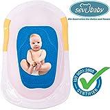 Baby Badeschwamm Sevibaby Sitzschwamm BLAU Badeunterlage Für Babys ab der Geburt