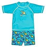 Landora: Baby- / Kleinkinder-Badebekleidung 2er Set mit UV-Schutz 50+ und Oeko-Tex 100 Zertifizierung in türkis; Größe 86/92