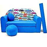 Kinder Sofa Couch Baby Schlafsofa Kinderzimmer Bett gemütlich verschidene Farben und motiven (C21...