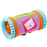 Fehn 142457 Krabbelrolle Robos / Krabbelhilfe & Motorik-Spielzeug zum Greifen und Entdecken / Für Babys und Kleinkinder ab 6+ Monaten