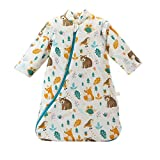 Baby Winter schlafsack Kinder schlafsack 3.5 Tog Schlafsaecke aus Bio Baumwolle Verschiedene...