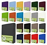 leevitex Kinder Jersey Spannbettlaken, Spannbetttuch 100% Baumwolle in vielen Größen und Farben...