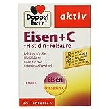 Doppelherz Eisen + C + Histidin + Folsäure / 10 mg Eisen für den normalen Energiestoffwechsel und...