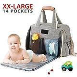 Baby Wickeltasche Große, ICEIVY Baby Tasche Wasserdicht Handtasche XXL Mit Extender Wickelunterlage...